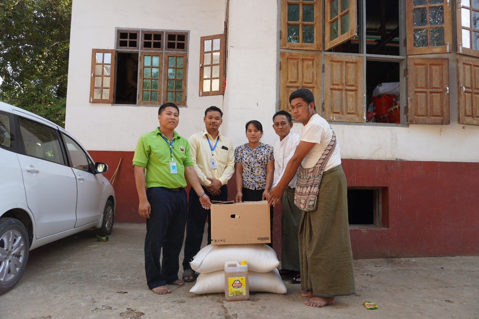 Donation for fired victim at Lewe Township, Naypyitaw Region